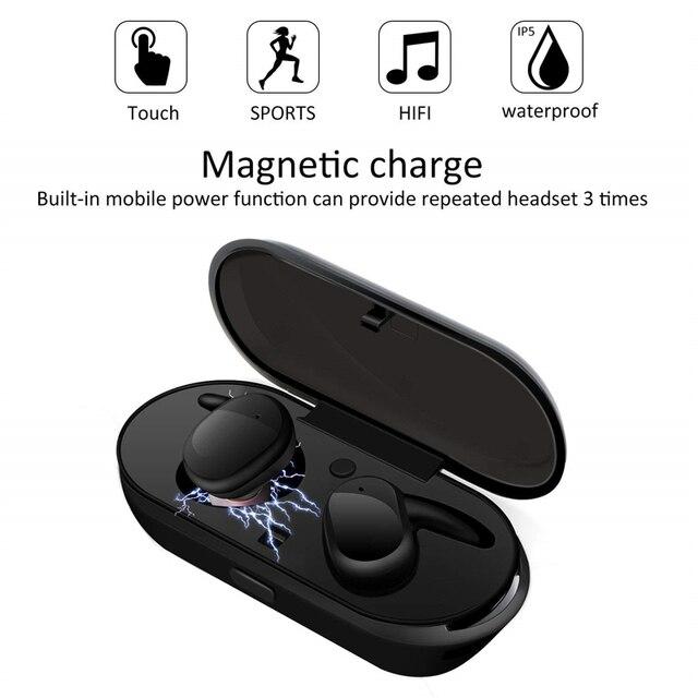 Auriculares inalámbricos Y30 TWS 5,0, con cancelación de ruido, sonido estéreo, música, intrauditivos, para Android IOS y teléfono inteligente 3