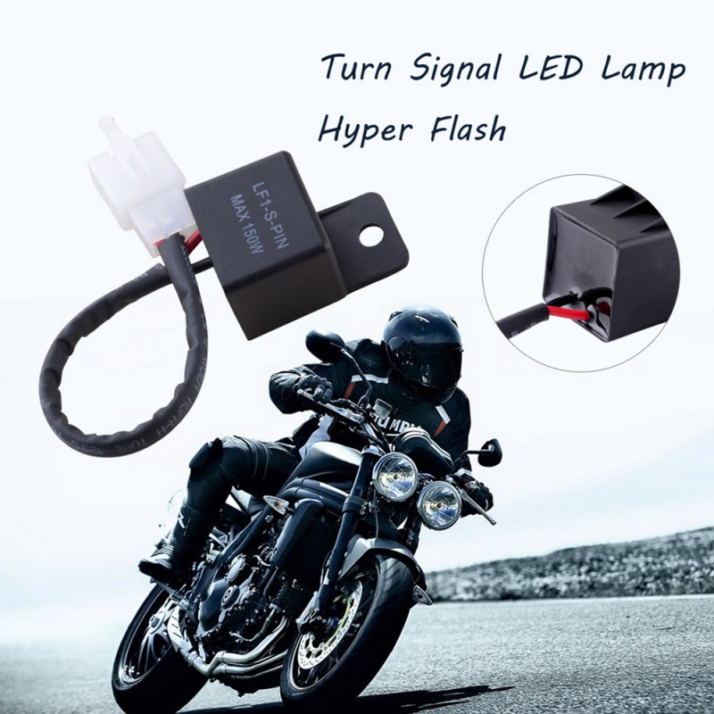 Motorcycles 2 Pin Turn Light LED Lamp Flasher Relay Turn Signal Rate Control Blink Relay Led Flasher Relay 2pin