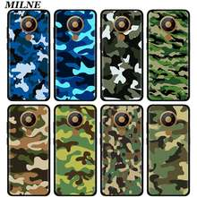 Luksusowe silikonowe etui Coque dla Nokia 2.2 2.3 3.2 4.2 6.2 7.2 1.3 5.3 8.3 5G 2.4 3.4 C3 C5 C2 kamuflaż armia pokrywa Fundas Capa