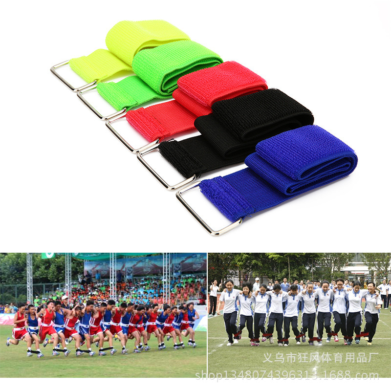Wrist Strap Elastic Bandage Legged Bind Leg Band Tied Foot With Children Game Bind Leg Band 2 People 2 Group