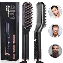 Liaboe 3 in 1 Professional Fast Heating Styling Iron Comb for Beard Hair Ceramic