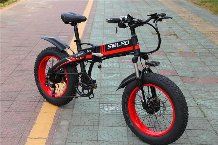 S9F China manufacturer 20 inch e bike 48v 1000w Bafang Motor fatbike 14AH Sam sung battery folding electric bike 2