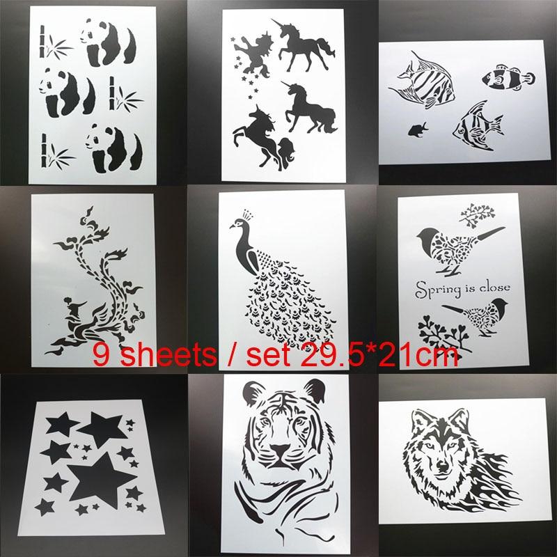 Tiger Animal Mylar Reusable Stencil Airbrush Painting Art Craft DIY Home Decor