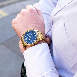 Image 5 - MEGIR noir acier inoxydable hommes montres haut de gamme de luxe lumineux étanche montre à Quartz homme Relogio Masculino livraison directe