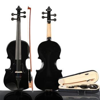 New 1/8 Acoustic Violin Fiddle with Rosin Case Bow Kits Fiddle Exerciser Set for Musical Lover Student 1 8 kids children natural acoustic violin fiddle with case bow rosin musical instrument gifts