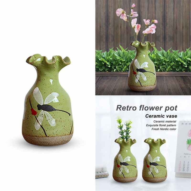 Hand Painted Dragonfly Retro Flower Pots Ceramic Vases Simple Creative Pottery Green Meat Creative Water Culture Decoration Home Aliexpress,Flower Easy Ganesh Rangoli Designs For Diwali