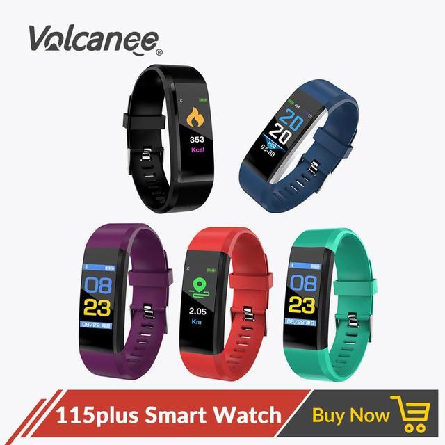 115plus Bracelet Heart Rate Blood Pressure Smart Band Fitness Tracker Smartband Bluetooth Wristband fitbits Smart Watch Men