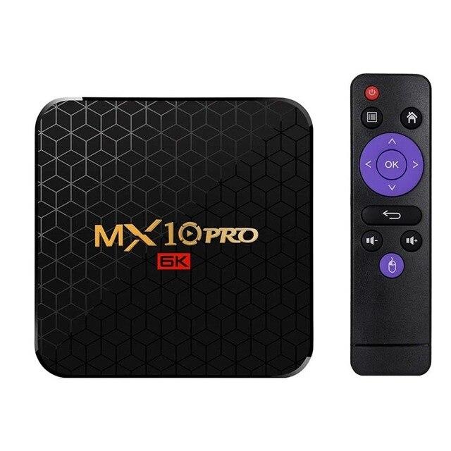 Mx10 Pro Smart Tv Box Android 9.0 Allwinner H6 Uhd 4K lecteur multimédia 6K décodage dimage 4 Gb/64 Gb 2.4G Wifi 100M Lan Usb3.0 H.26