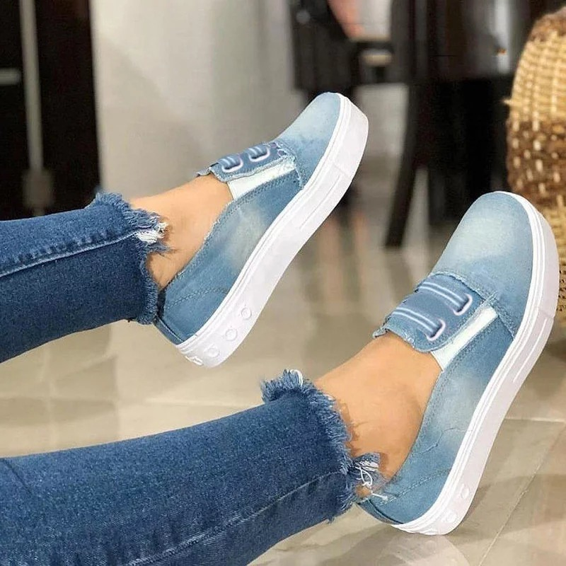 women flats shoes woman fashion round toe slip on denim shoes student light soft comfortable spring women shoes dropshipping