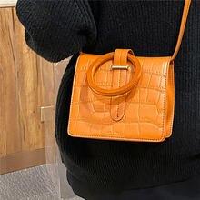 Повседневная женская сумка через плечо из крокодиловой кожи