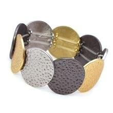 Женские широкие браслеты d & в стиле панк вогнутые круглые многоцветные