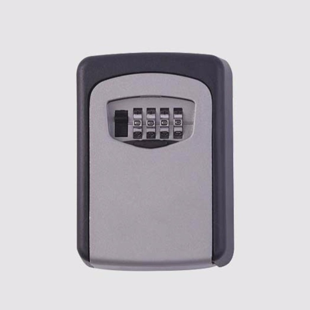 Storage Organizer Box Wall Mounted Home Security Code Lock Alloy Key Box 4 Digit Combination Password Keys Box Key|Safes| |  - title=