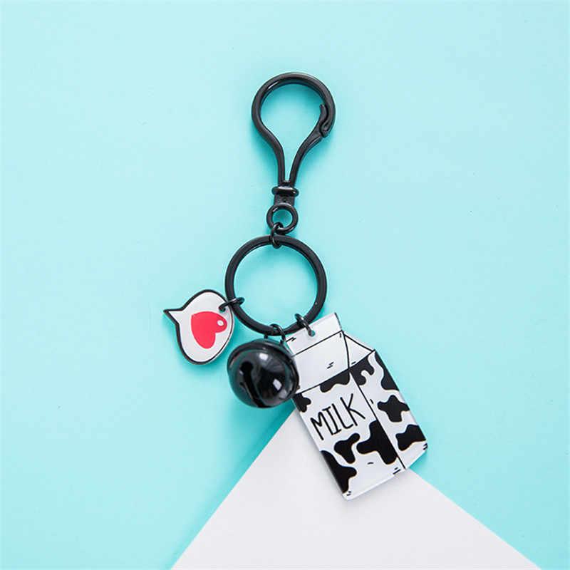1 Pc Creative אקריליק פופולרי מילת כרטיס חמוד מפתח שרשרת גברים ונשים מצב רכב תיק מפתח שרשרת מותניים תליון מפתח טבעת מתנה