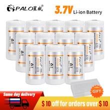 PALO 16340 16350 li-ion battery 3.7v li-ion rechargeable batteriesCR123 CR 123A CR17345 rechargeable 16340 li ion batteries