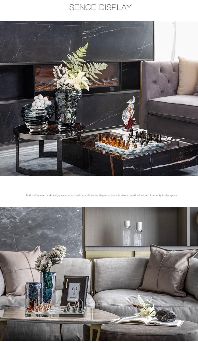 cristal checkerboard estatueta moderna quarto hotel escritório