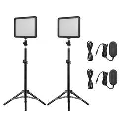 Andoer selfie Studio Outdoor Light Kit with LED Video Light Panel Fill-in Lamp Dimmable 3300K-5600K Photography  Light Stands