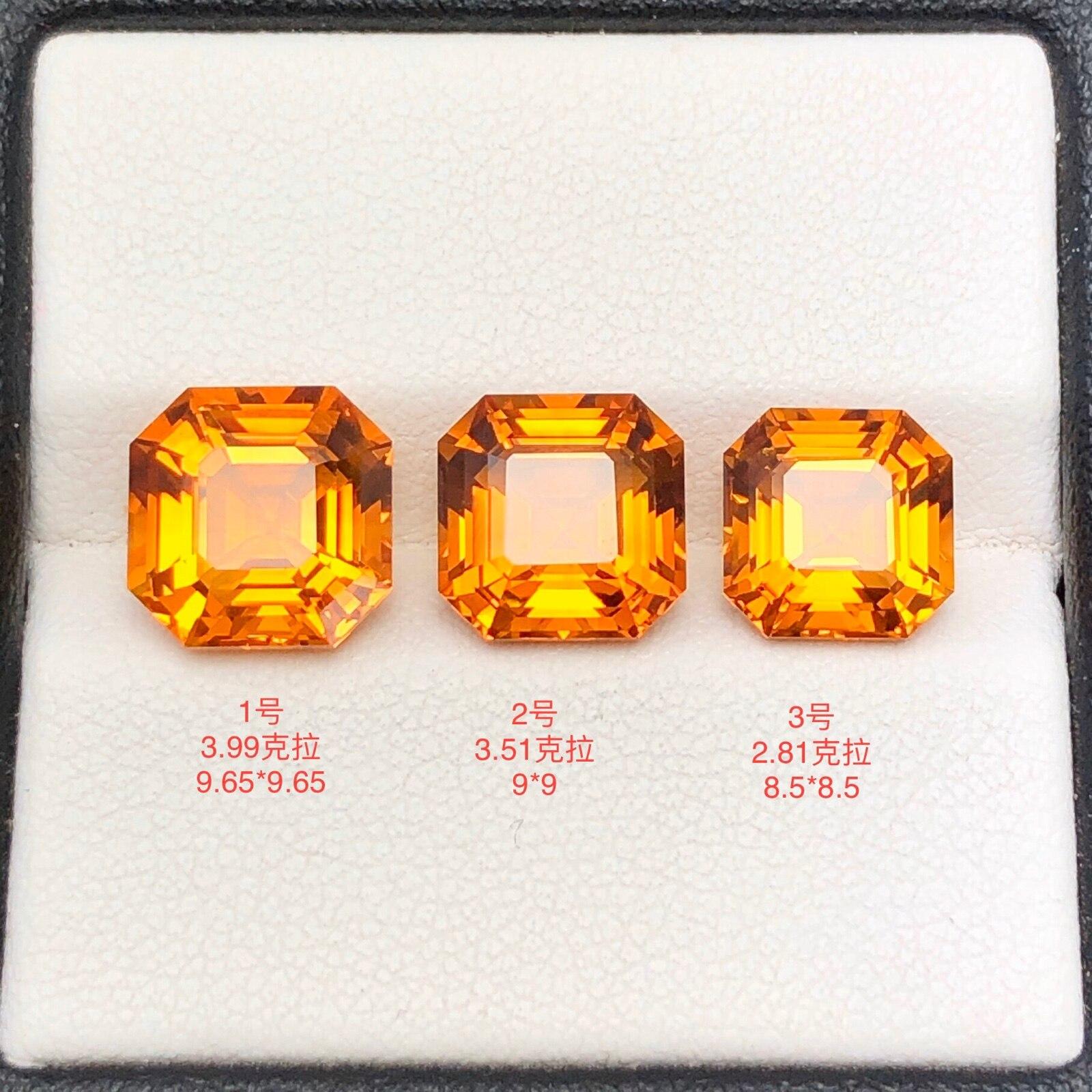 Fine Grade Citrine Square Natural Gemstone Loose Gem Crystal Stone DIY Jewelry