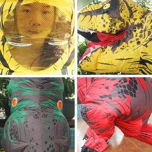 Image 5 - Disfraz de dinosaurio T REX Velociraptor para adultos y niños, Cosplay de Anime de fantasía, Raptor de dinosaurio inflable, Disfraces de Halloween para mujeres