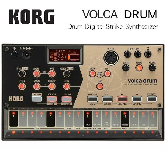 Korg Volca-Drum Digital Percussion Synthesizer Analogue Modeling Rhythm Machine