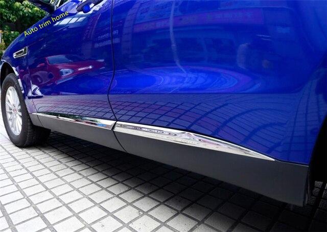 Lapetus Outside Door Body Mouldings Bottom Panel Bezel Cover Trim Fit For Jaguar F-Pace 2017 2018 2019 2020 Auto Accessories 3