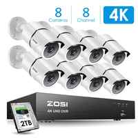 ZOSI 4K 8CH Ultra HD CCTV Kamera System H.265 + DVR Kit mit 2TB HDD 8PCS 8MP TVI Outdoor Home Video Security Surveillance System