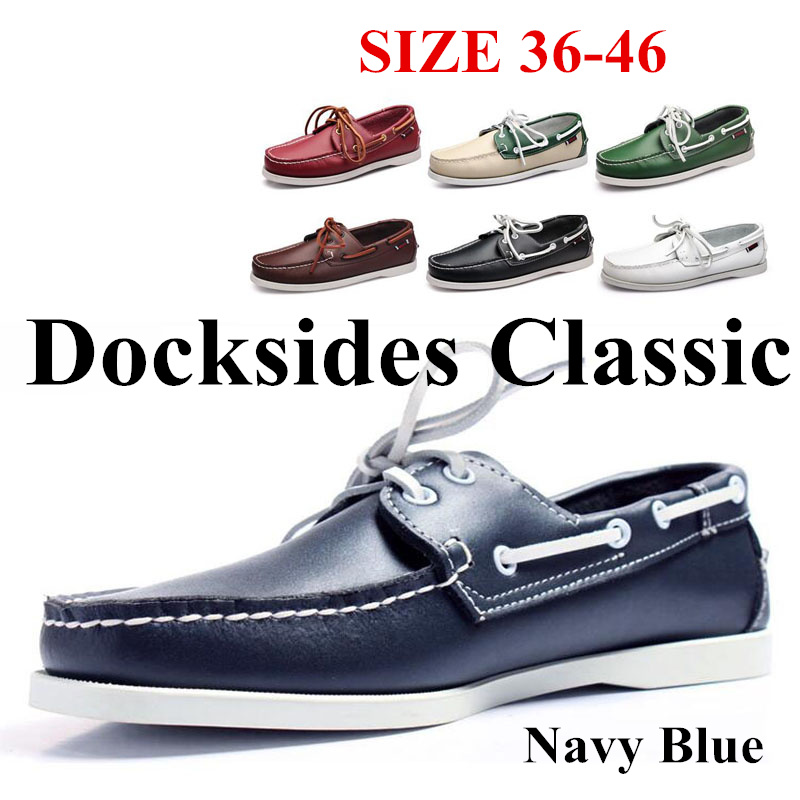 Men Genuine Leather Driving Shoes,Homme Femme Fashion Boat Shoe,Brand Design Flats Loafers For Men Women A001