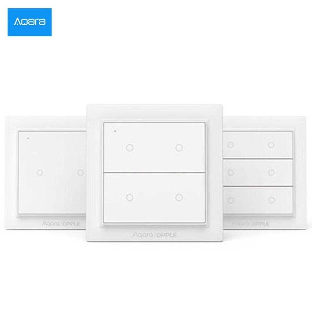 2020New Aqara Opple Wireless Smart Switch Keine Verkabelung Erforderlich Arbeit Mit Smart Home App Apple HomeKit Wand Schalter Globale Version