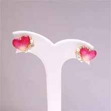 customized earings   mens earrin  stud earring  Flowers court earrings Handmade Immortal flower drops glue ear nail Ear clip