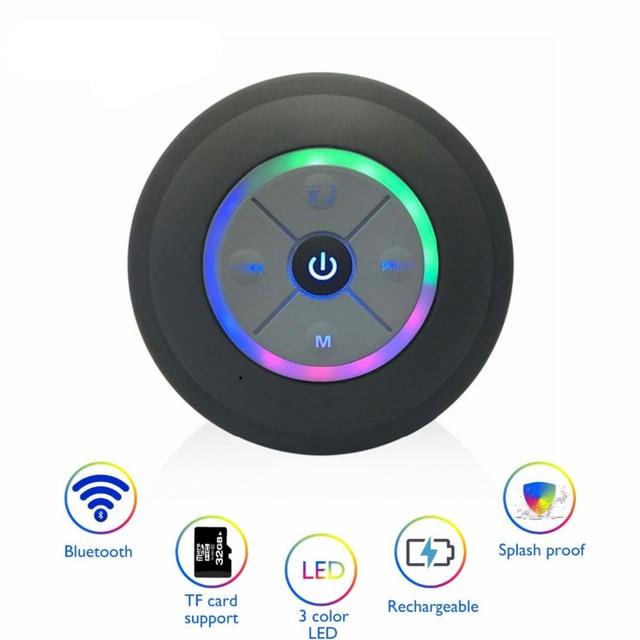 Sans fil Bluetooth haut parleur Portable étanche douche haut parleur mains libres voiture pour iPhone iPod Android téléphones MP3 haut parleur