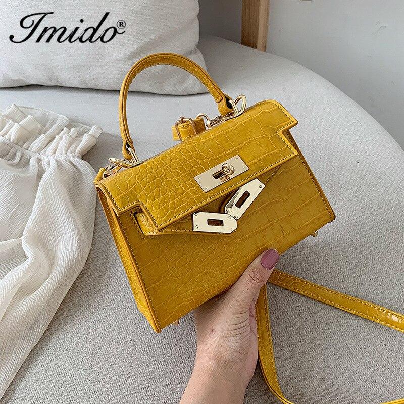 Design Mini Stone Pattern PU Leather Crossbody Bags For Women 2019 MINI Shoulder Messenger Bag Female Fashion Handbags Totes