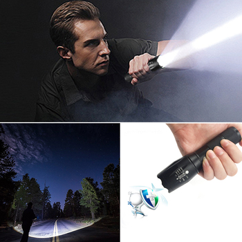 Z45 Led Flashlight Ultra Bright Waterproof MINI Torch T6/L2/V6 zoomable 5 Modes 18650 rechargeable Battery for camping tactical 4