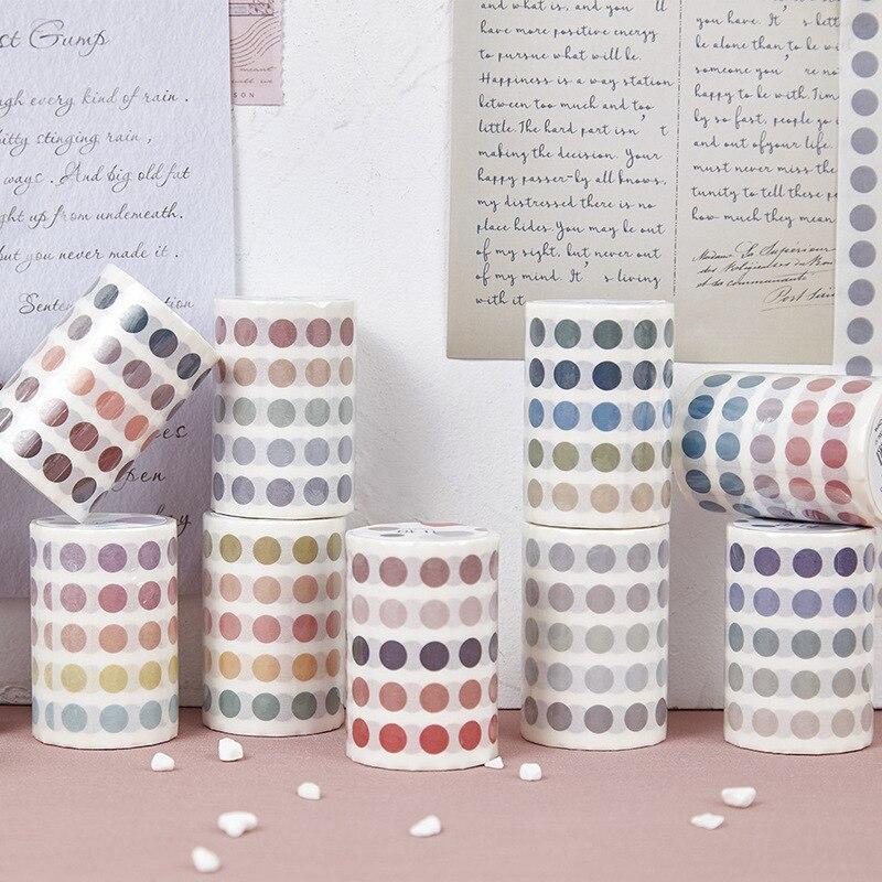 60mm Colorful Salt Series Gradient Circle Dot Die Cut Index Sticker Decoration Washi Tape DIY Planner Scrapbooking Masking Tape