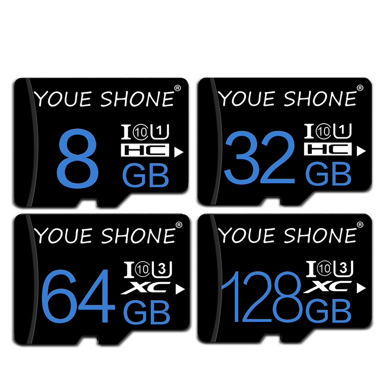 100% Real Capacity Memory Card Class 10 Micro SD Card 8GB 16GB 32GB 64GB TF Card High Speed Mini Card New Package Free Adapter