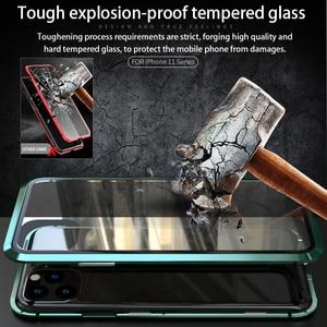 Image 2 - Voor Iphone 11 Pro 2019 Case Dubbelzijdig Gehard Glas Magnetische Adsorptie Full Body Anti Explosie Cover Voor iphone 11 Pro Max