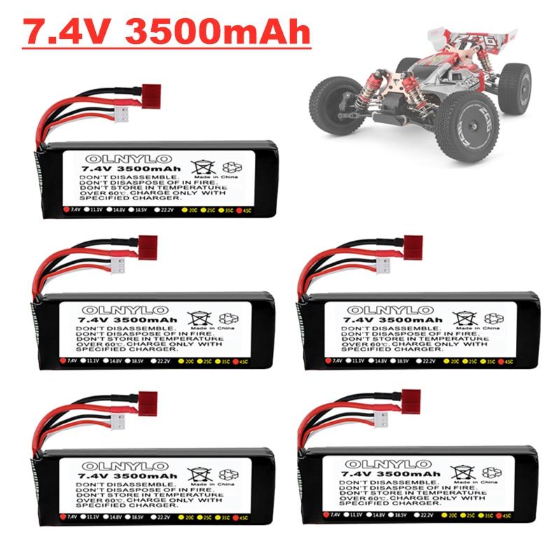 Оригинальный литий-полимерный аккумулятор и зарядное устройство Wltoys 144001 2s 7,4 В 3500 мАч модернизированная перезаряжаемая для Wltoys 144001 12428 12423 RC ...