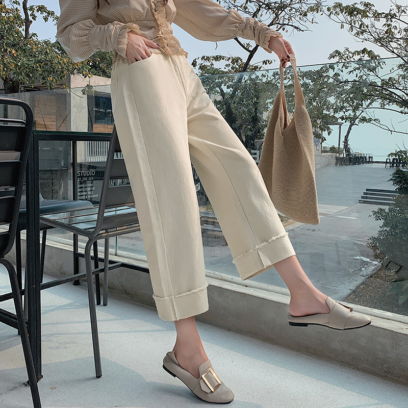 Loose   Pants   Spring Clothing New Style 2019 Korean-style Large Size Fat Mm Loose-Fit WOMEN'S Casual   Pants   Cool Handsome   Capri   Pan