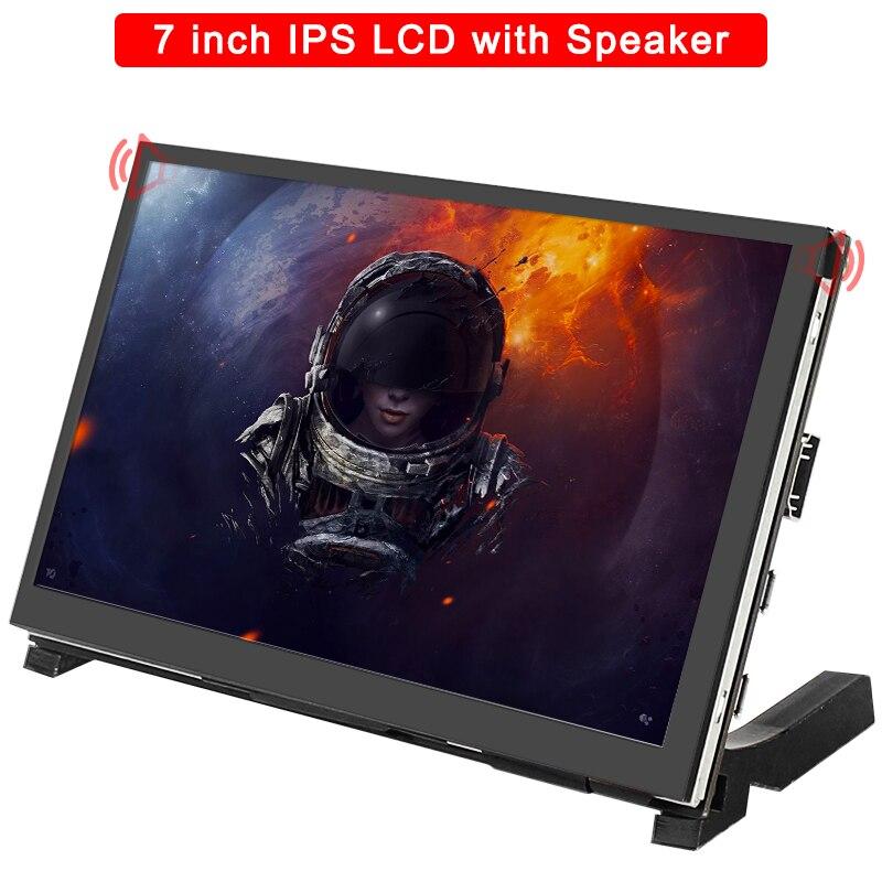 7 дюймов Raspberry Pi 4 Модель B сенсорный Экран 1024x600 IPS емкостный ЖК-дисплей с Динамик для Raspberry Pi 3B +/3B/Nvidia Jetson Nano