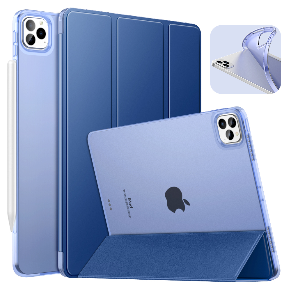 Navy blue Blue Case For iPad Pro 11 2020 2nd Generation Support Apple Pencil 2 Charging Case with Stand