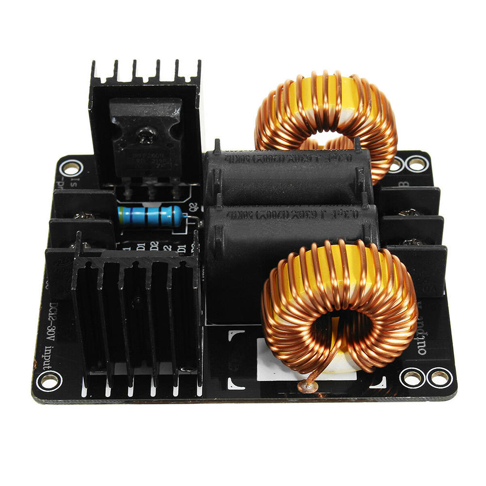 DC 12V-30V 1000W 20A ZVS Induction Heating Board Black Flyback Driver Heater Power Supply Module High Quality Wholesale