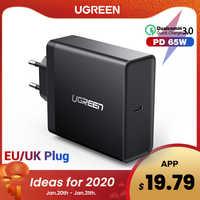 Ugreen pd 65 w carregador usb tipo c carregador para apple macbook ar ipad pro samsung asus acer tablet carregador para nintendo switch
