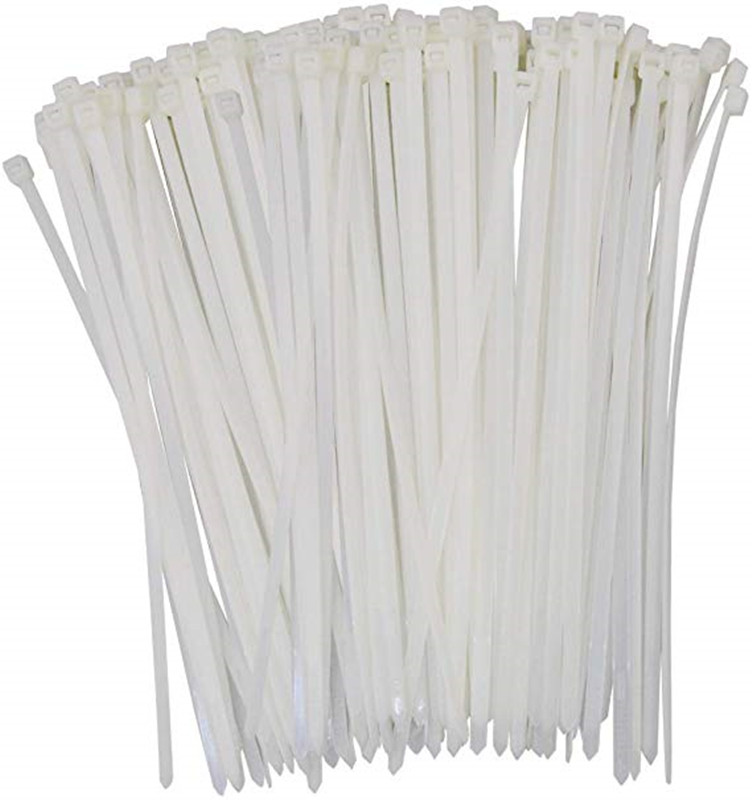 Self-Locking Plastic Nylon Wire Cable Zip Ties 250pcs White Cable Ties Fasten Loop Cable Ties Zip Tie Wraps 4x300mm