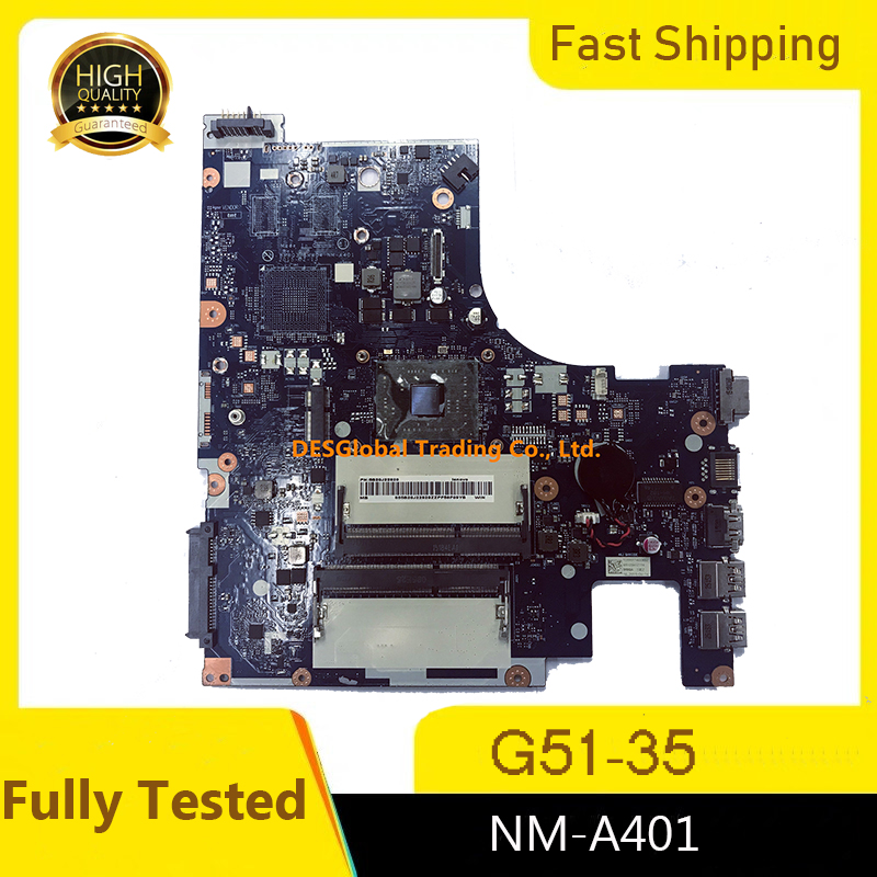 Original For Lenovo G51-35 Laptop Motherboard DDR3 Mainboard BMWQ3/BMWQ4 NM-A401 Fully Tested Fast Shipping