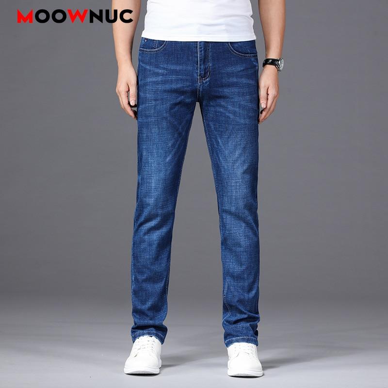 Casual Streetwear Summer Jeans Male Trousers MOOWNUC Pants Classic Mens Jeans Skinny Denim Jeans For Men Slim Designer Straight