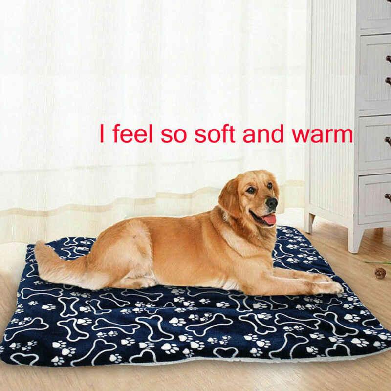 لينة الصوف سرير كلب الحيوانات الأليفة حصيرة وسادة للماء قابل للغسل جهين جرو وسادة حصيرة النوم غطاء منشفة وسادة للكلاب القطط