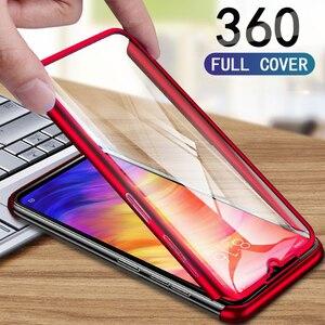 360 Degree Full Case For Redmi Note 8 7 6 5 4 Pro 7A 6A 5A 4A 4X Case for Xiaomi Mi 9 SE CC9 CC9E 8 A1 A2 Lite Cover With Glass(China)