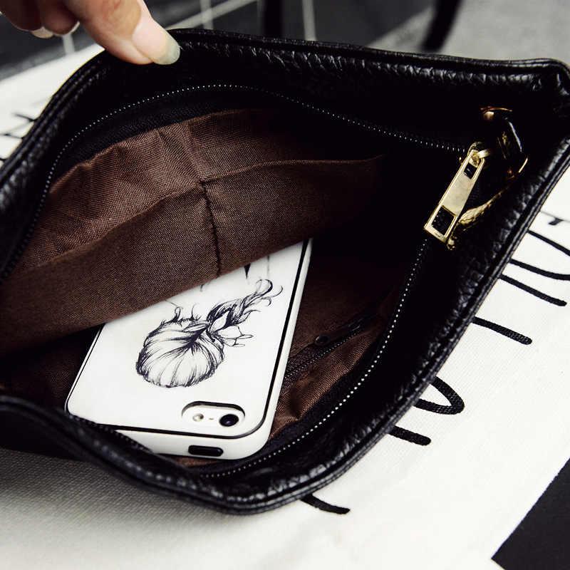 패션 여성 클러치 메신저 가방 디자인 여자의 어깨 가방 PU 가죽 레이디 핸드백 빈티지 작은 메신저 가방 전화 지갑
