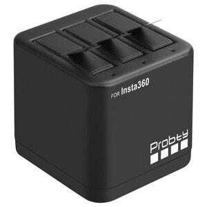 Image 3 - 3 個 Insta360 のための 1 × 充電式バッテリーパック + スマートディスプレイ充電器 Insta360 One X カメラアクセサリー