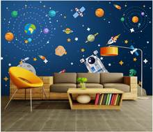 WDBH Custom photo 3d wallpaper Hand drawn cartoon abstract spaceship decor living room 3d wall murals wallpaper for walls 3 d(China)