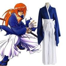 Anime Rurouni Kenshin Cosplay Costumes Himura Costume Kimono Halloween Party Game