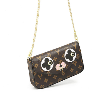 Quality Leather Cross Body Bag Women 2021 New Stylish Eyes Pattern Single Shoulder Messenger Handbags Ladies Luis Vitton Purses 1